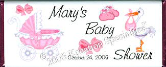 Girl Baby Shower Wrapper 2- Front