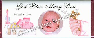 Baptism Girl with Photo Wrapper -2 front