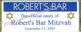 Bar Mitzvah-4 Chocolate Wrapper Front