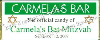 "Bat Mitzvah ""The Offical Candy "" Wrapper  Front"
