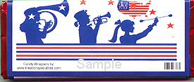 USA Flag  July 4th Chocolate Bar Back