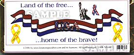 Support Our Troops Wrapper -1- Back