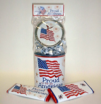 Proud American Chocolate Gift Can with Hershey's� Kisses�