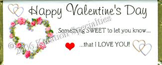 Valentine I Love You Candy Wrapper Front 6