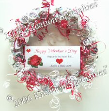Valentine's Day Hershey's® Kisses®  Chocolate Candy Wreath